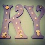 Hand Painted MDF Letters (6Inches)