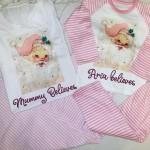 Adult 'I Believe' Pink Santa pj's