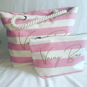 Premium Personalised Beach Bag & Case Set