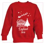Kids 'Log Cabin' Personalised Jumper