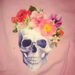 Kids Floral Skull Sweatshirt
