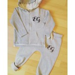 Baby/Toddler 'Initial' Zipper Tracksuit